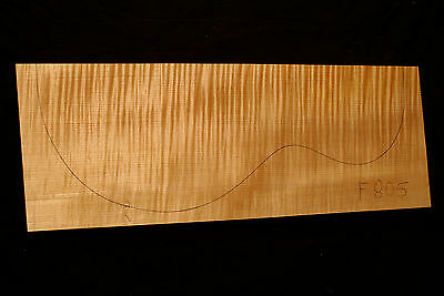 Curly Flame Maple Guitar Top Billet Luthier 4A - 485/180/36mm (#F805)
