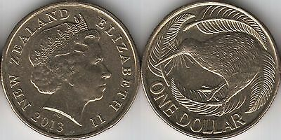 2013 New Zealand $1 One Dollar coin