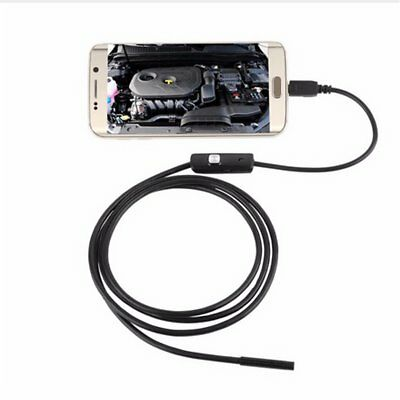 6 LED Waterproof 1M 7mm Phone Endoscope Inspection Camera For Android PC NEU
