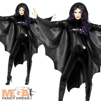 Black Vampire Bat Wings Ladies Fancy Dress Halloween Womens Costume Accessory