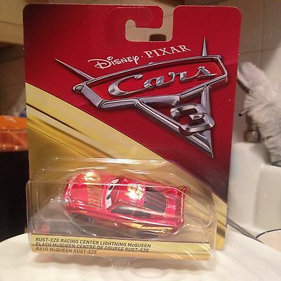 Disney Pixar Cars Rusteze Racing Center Lightning Mcqueen Mattel 1.55 Scale BNIB