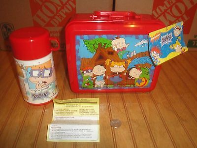 1997 Rugrats Aladdin plastic Unused Lunchbox with Thermos Complete w/ Tags