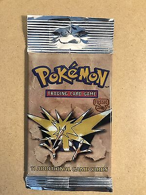"Pokemon Sealed Booster Packs Fossil ""long Tab"" Brand New Sealed 1999"