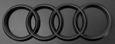 NEW Matt Black For Audi A3 A4 5 A6 A7 TT Q3 Q5 Q7 Rear Trunk Emblem Badge 216mm
