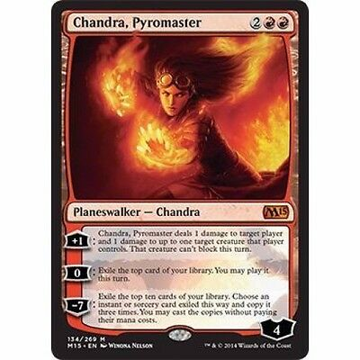 MTG Chandra, Pyromaster Magic 2015 Core Set M15 Magic The Gathering Planeswalker