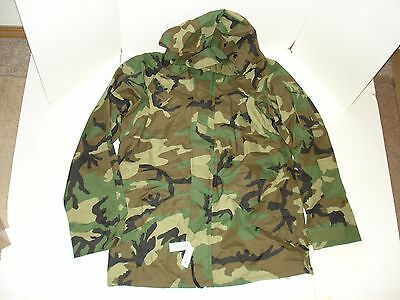 military surplus PARKA COLD WEATHER WOODLAND NYLON MED/LONG NEW