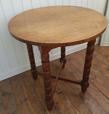 Solid Oak - Vintage  French Country Style Side Table