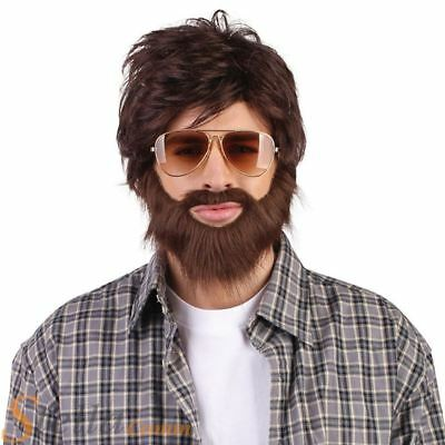 Men's Alan Hangover Wig & Beard Film Stag Do Fancy Dress Costume Accessory