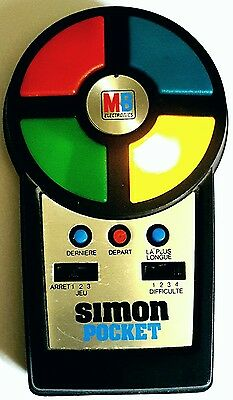 "@@@ ""jeu Simon Pocket Mb"" -  Electronique Vintage 80 @@"