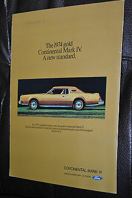 Gold 1974 Lincoln Continental Mark Iv Gorgeous Vintage 70S Ad