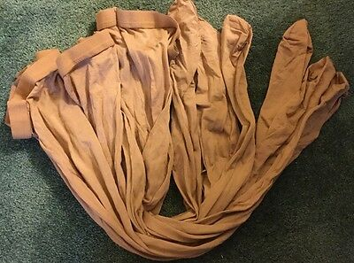 NWOT 3 pair Danskin size A style 212 tan footed dance tights MADE IN USA