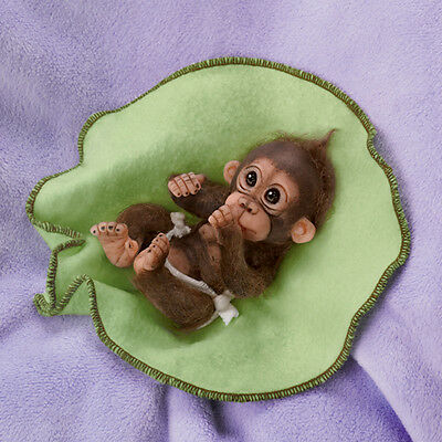 Ashton Drake CUDDLY CUTIES BABY MONKEY BY CINDY SALES - LOVE YOU BUNCHES