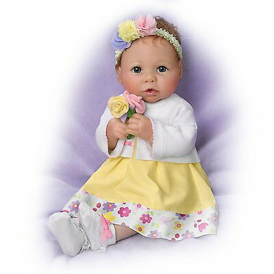 Ashton Drake - EVERY DAY IS MOTHER'S DAY Baby Doll By Linda Murray