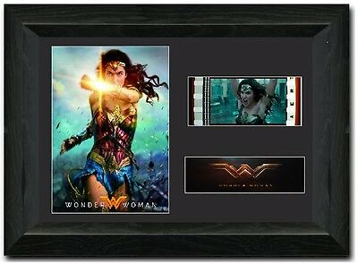 Wonder Woman 35 mm Framed Film Cell Display Stunning Collectable Gal Gadot