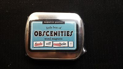 Little Box of OBSCENITIES Word Magnets from Magentic Poetry