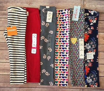 Toddler Girls Lot of 6 NWT Leggings Size 2T-Gymboree, Children's Place