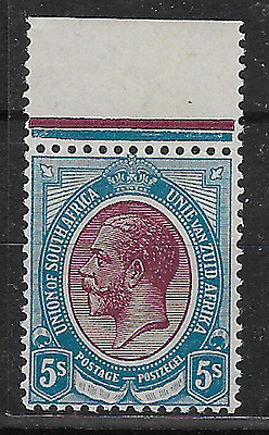 South Africa 1913 KGV SG15 5S Upper Margin MLH