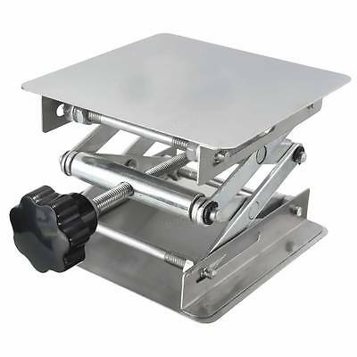 "Scissor Stand Platform Lab Jack 8""x8"" Lifting Plate 10"" Height Stainless Steel"