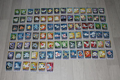 Pokemon Carddass - Bandai Trading Cards - 90 differents w/ 3 holos cardass