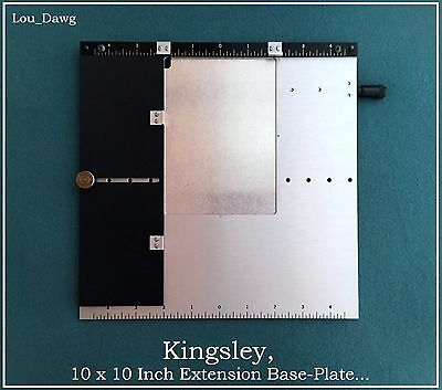 Kingsley Machine ( 10 x 10 Inch Extension Base-Plate ) Hot Foil Stamping Machine