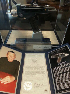 Master Replica Leonard Nimoy Signed Tos Phaser