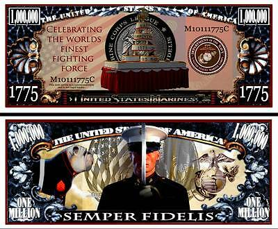 Marine Corps Birthday Semper Fidelis Million Dollar Collectible Novelty Note