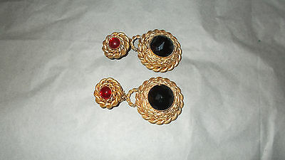Butler and WIlson Vintage 1980's old gold tone with rich jewel stones