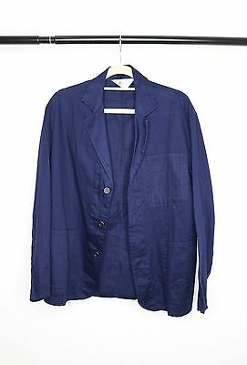 Vintage Navy Blue Workmen's Blazer. Engineers Jacket, size S