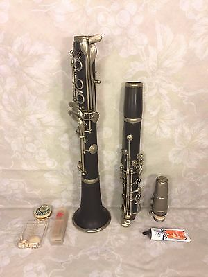 Antique Excello Clarinet Grenadilla Wood in Case France