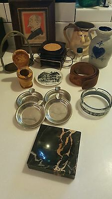 Miscellaneous Junk Drawer Lot of Mixed Items; Art Pottery Vintage Collectibles