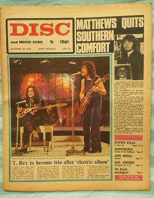 Marc Bolan cover-Disc and Music Echo Magazine November 28,1970