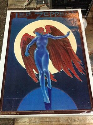 Vintage 1977 Led Zeppelin 'Blue Angel' Poster Litho by Stanley Mouse Rare Rare