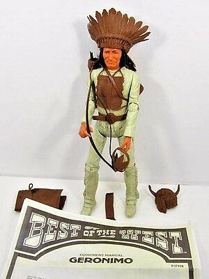 "Vintage 1960's Marx Geronimo 12"" Action Figure With Accessories 1960's Toy"