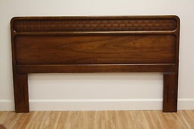 MID CENTURY Modern LANE PERCEPTION Queen Headboard Walnut