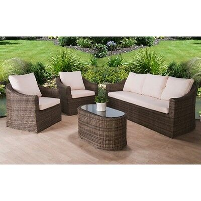 Rattan Garden Furniture Set 5 Seater Chairs Sofa Table Outdoor Patio Wicker