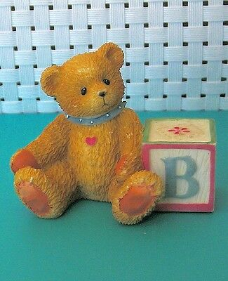 Cherished Teddies Miniature Block B By Enesco Corp. #158488B ©Priscilla Hillman