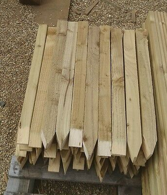 "20 PACK OF 2 INCH X 2"" WOOD SQUARE SITE PEGS  GARDEN 2X2 TREE STAKE free dlivery"