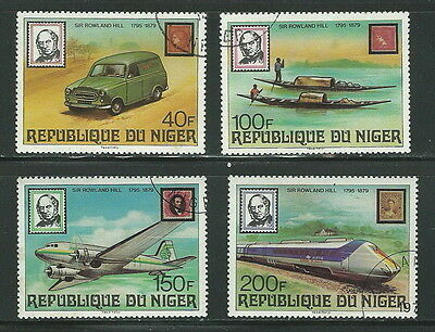 NIGER 1979 ' 100th ANNIVERSARY OF THE DEATH OF SIR ROWLAND HILL ' SET USED (169)