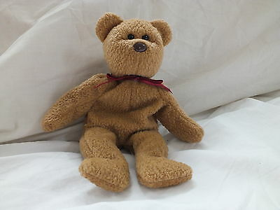 TY Beanie Baby Curly The Bear Retired Born April 1996 Soft Toy Gift