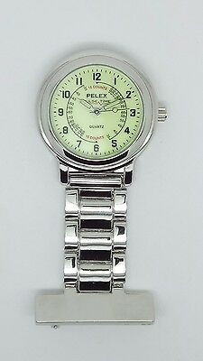 nurse beauticians fob watch silver Luminous dial by Pelex F107