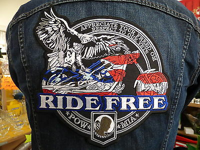 GRAND ECUSSON PATCH THERMOCOLLANT / RIDE FREE biker chopper sturgis daytona usa