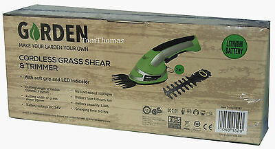 Hand Held Cordless Garden Grass Shear & Hedge Trimmers 2 in 1 Rechargeable