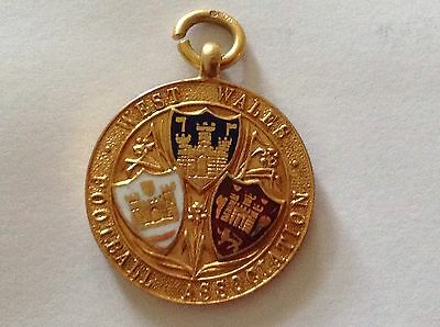 Enamel And Solid Gold 1923 - 1924 Football Medal