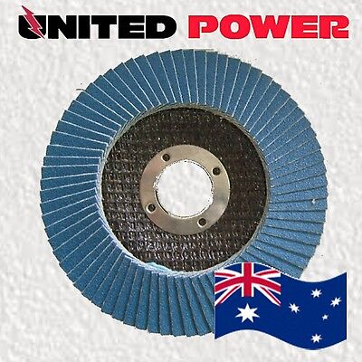 25 x 125mm  60 GRIT ZIRCONIA FLAP DISCS WHEELS METAL/TIMBER SANDING