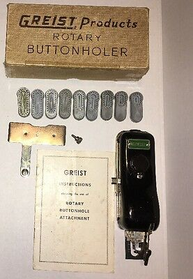 """GREIST Products - Rotary BUTTONHOLER with 9 Templates from 5/16"""" - 1 1/16"""""""