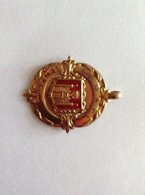 Football Gold And Enamel Medal 1920-21