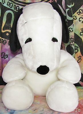 """Official Peanuts SNOOPY Large Huge 28"""" Plush Dog Sitting"""