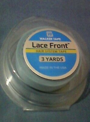 """Walker Lace Front Support Toupee Blue Liner Tape Roll (1/2"""" x 3 Yards) size"""