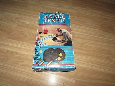 Vintage Soft Ball Table Tennis Set With Rigid Adjustable Net, Bats & Soft Balls