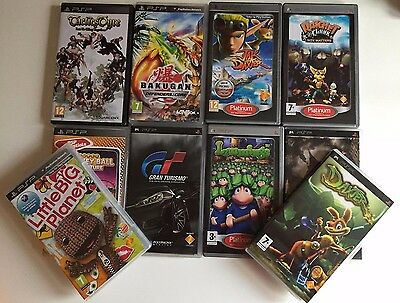 Psp Games Bundle - 10 Games - Complete - Sony Playstation Portable Games